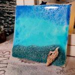 Epoxy Ocean Art auf Leinwand klein