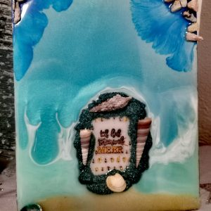 Epoxy Ocean Art auf Leinwand
