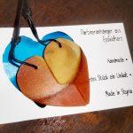 Partneranhänger aus Epoxidharz und Holz in Herzform/Pearl